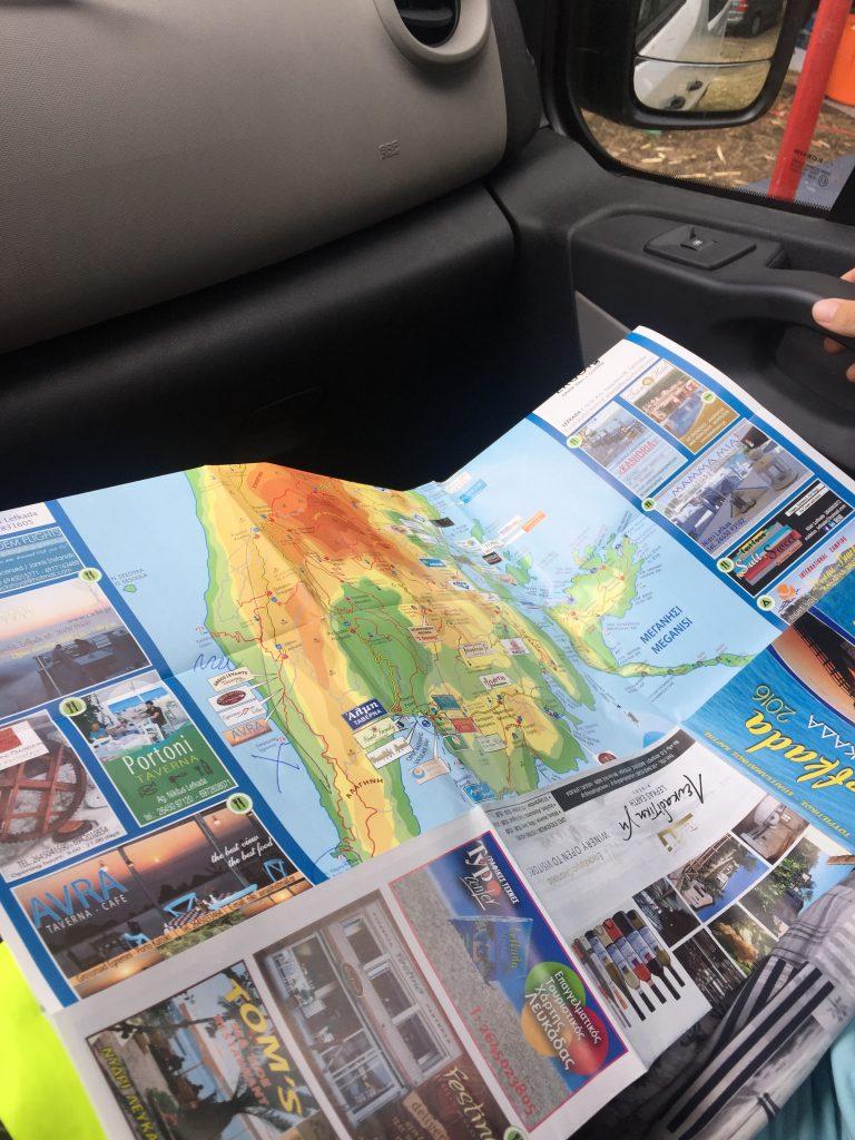 Mapa Lefkady