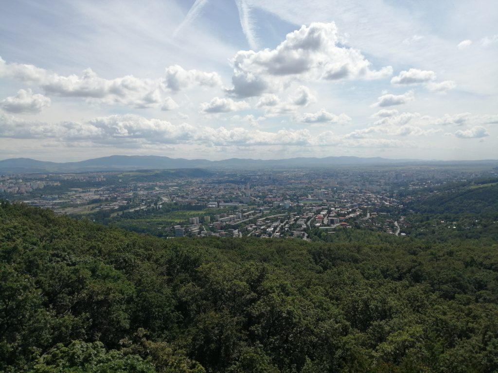 Košice, výhľad z vyhliadkovej veže Hradová